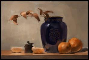 Still life with blue vase by Emil-K