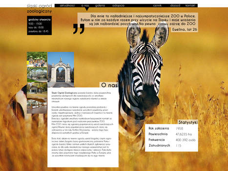 Zoo website about us page