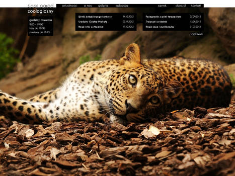 Zoo website main page