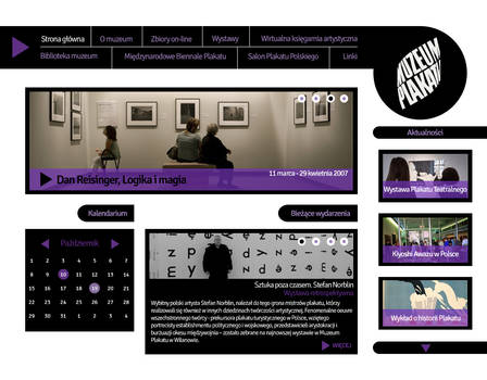 Website for Wilanow Poster Museum II
