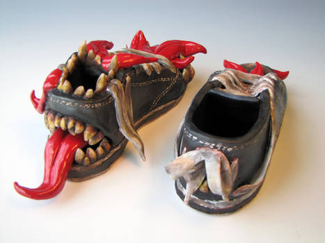 Monster Shoes: Back View
