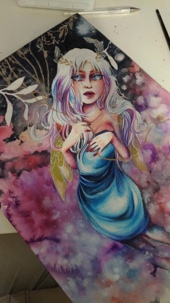 *Dream Weaver* on going art by Curubysorai