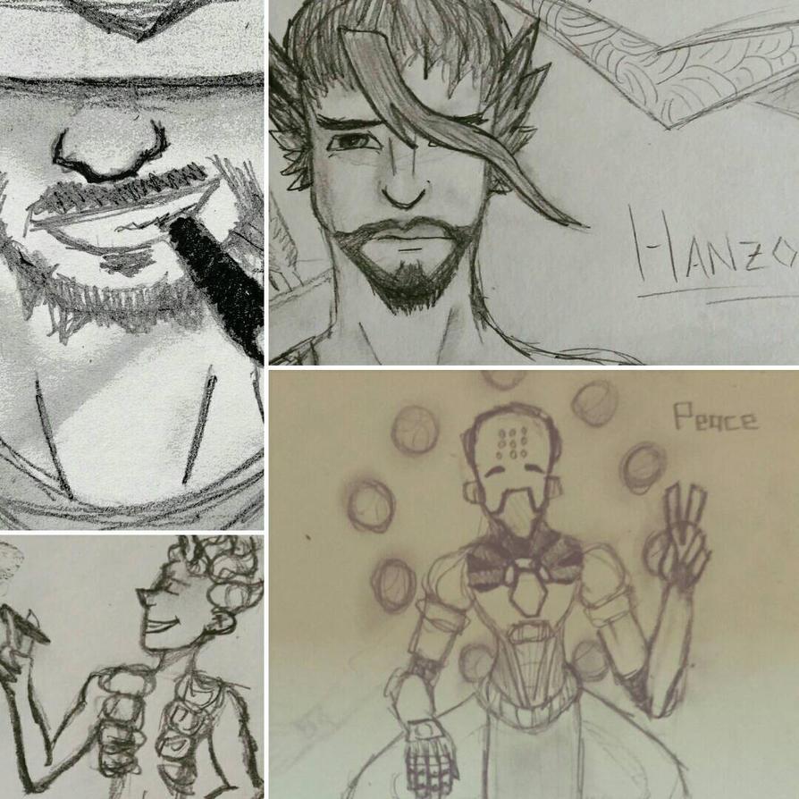 Overwatch Doodles by UltraGamingNerd2001