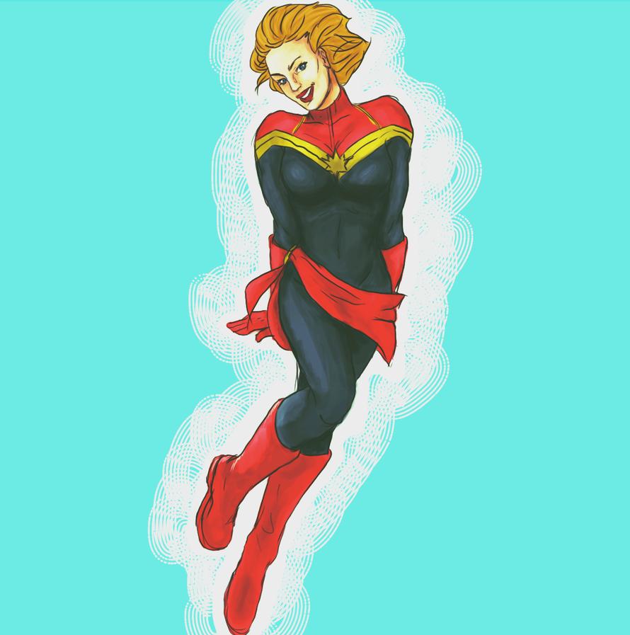 Captain Marvel by sniktttt