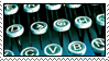 Blue Typewriter Keys by HanaKiriStamp