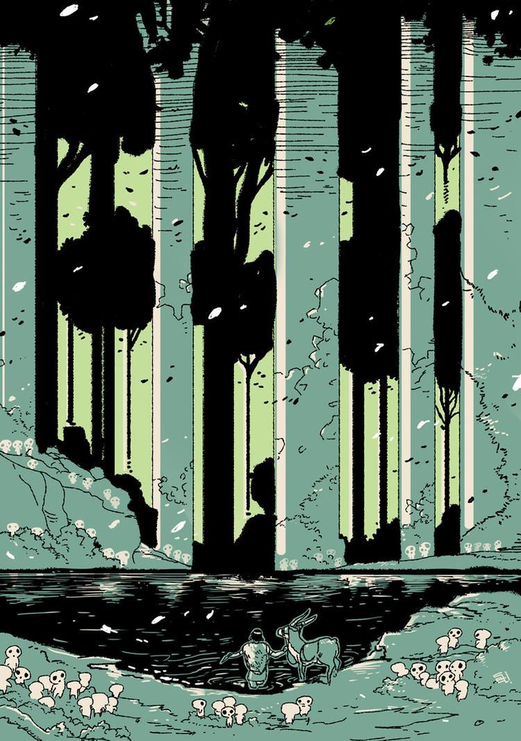 Mononoke Hime by SetaGila