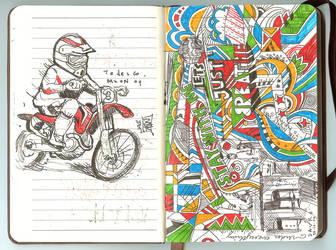 midnite doodlings by davrozz