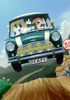 Derpy and Mini cooper by Richard-Skip