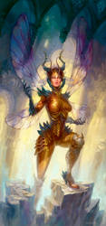 Insect woman by Uruno-Morlith