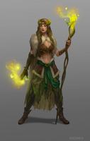 Female druid_concept by Uruno-Morlith