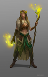 Female druid_concept