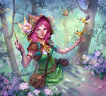 Flower witch by Uruno-Morlith