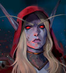 Sylvanas Windrunner portrait by Uruno-Morlith