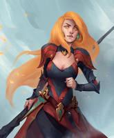 Red girl by Uruno-Morlith