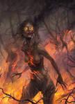 Burning Dryads by Uruno-Morlith
