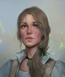 Hazel, Cleric Of The Grave (Commission Work)