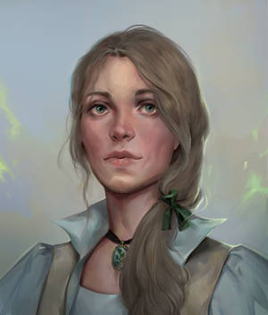 Hazel, Cleric Of The Grave (Commission Work) by KueshkaArt