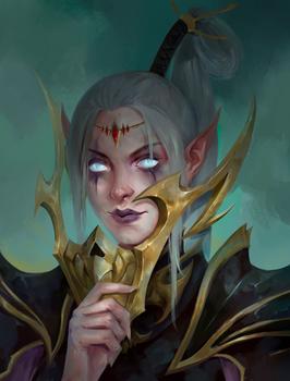 Warhammer's Dark Elf (commission work)