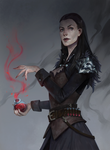 Elegant lady with potion from WoW (commission)