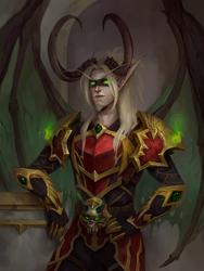 Valaxis. Blood Elf Demon Hunter (commission work)