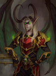 Valaxis. Blood Elf Demon Hunter (commission work)