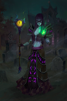 Gothess. Undead Warlock (commission work)