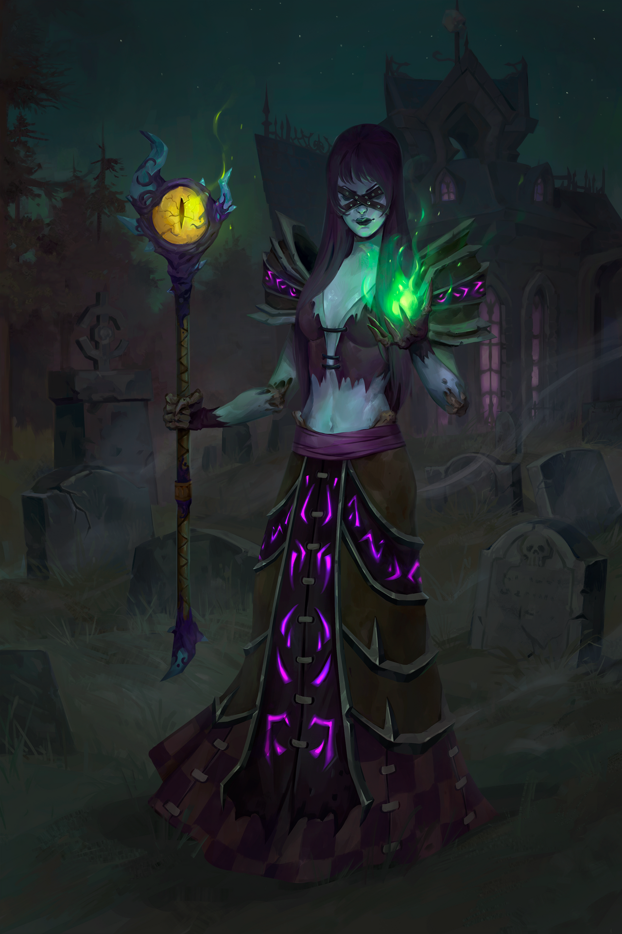 Gothess. Undead Warlock (commission work)