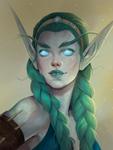 Sarohais, Night Elf Druid of the fin (commission)