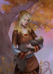 Magistrix Claire with baby orphan (BE commission)