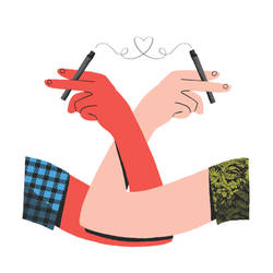 Spot for article about weed: Relationships