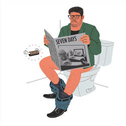 Newspaper Toilet by seanmetcalf