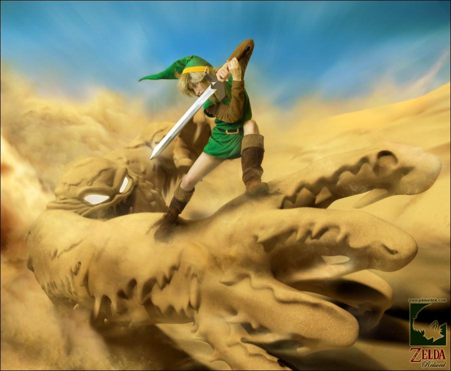 Link VS Geldman -Zelda Relived by pikminlink