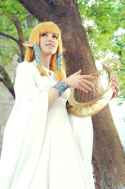 Ballad of the Goddess - Goddess Zelda by LiKovacs