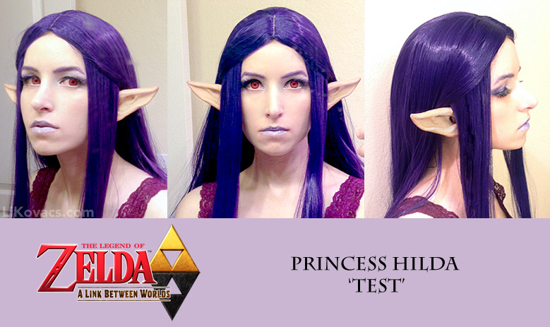 Hilda wig and makeup test - Legend of Zelda by pikminlink