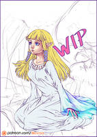 Skyward Sword Zelda - WIP by LiKovacs