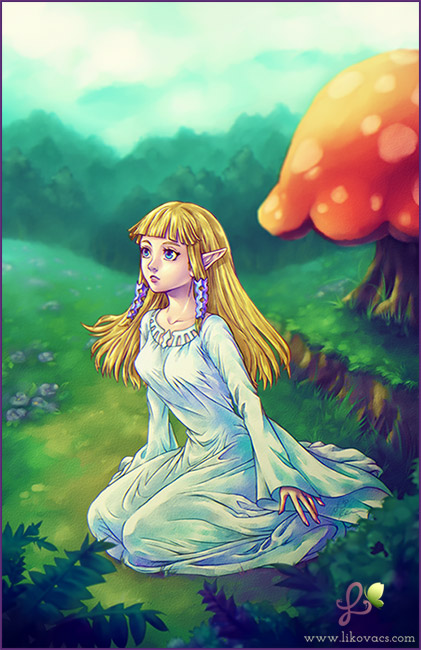Goddess Zelda - New Land - Skyward Sword by LiKovacs