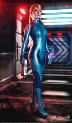 Zero Suit Samus Aran - Metroid Cosplay by LiKovacs