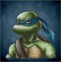 Leonardo - TMNT - art by LiKovacs