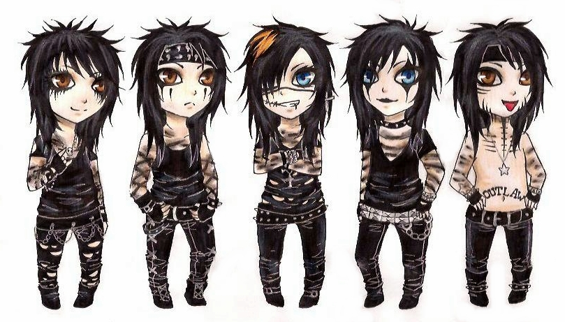Black Veil Brides Coloring Pages at GetColorings.com ... |Black Veil Brides Cartoon Version