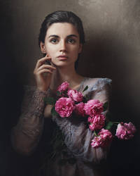 Self portrait with roses