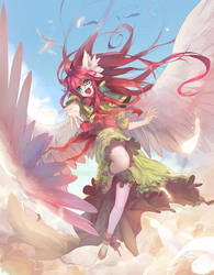 Anime Angels book - cover art by brucekun