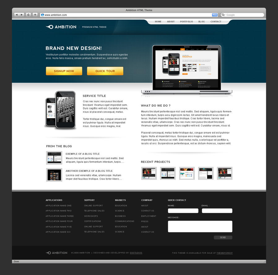 Ambition PSD Theme by bestofthemeforest