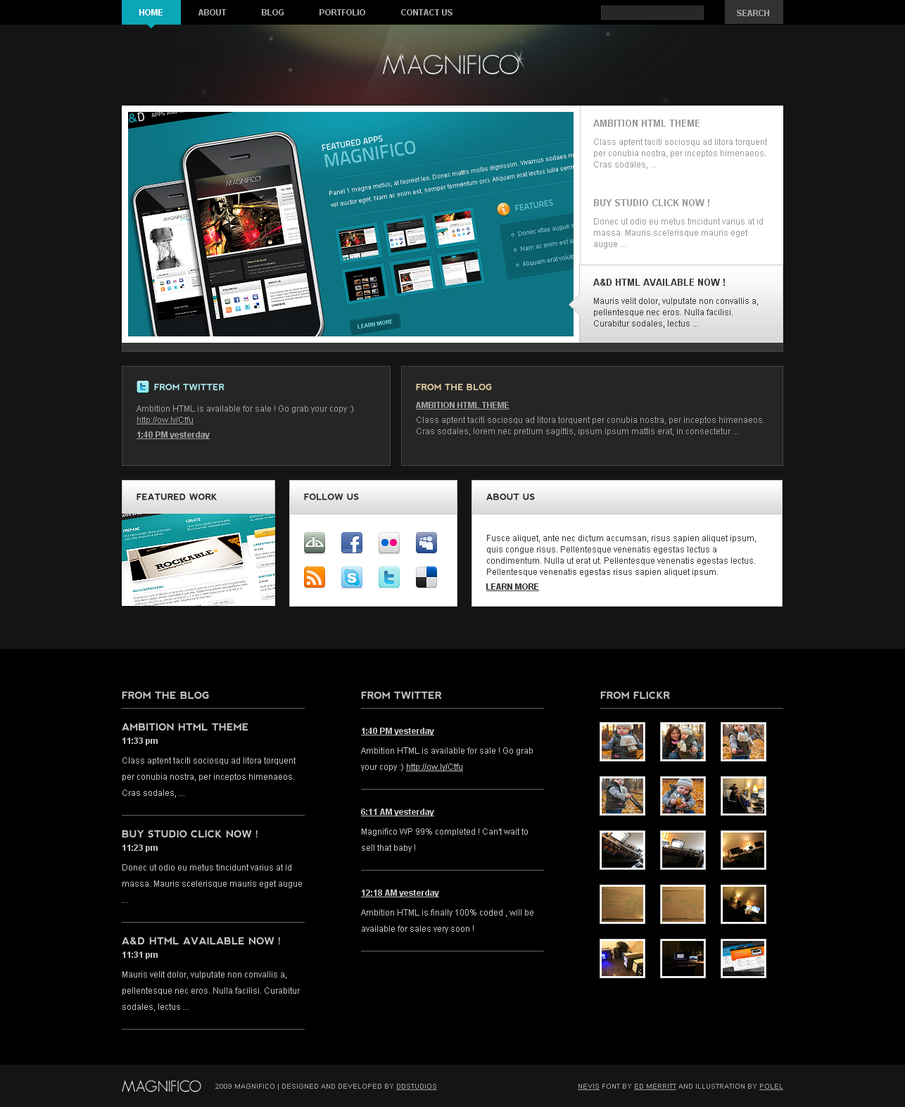 Magnifico Wordpress Theme by bestofthemeforest