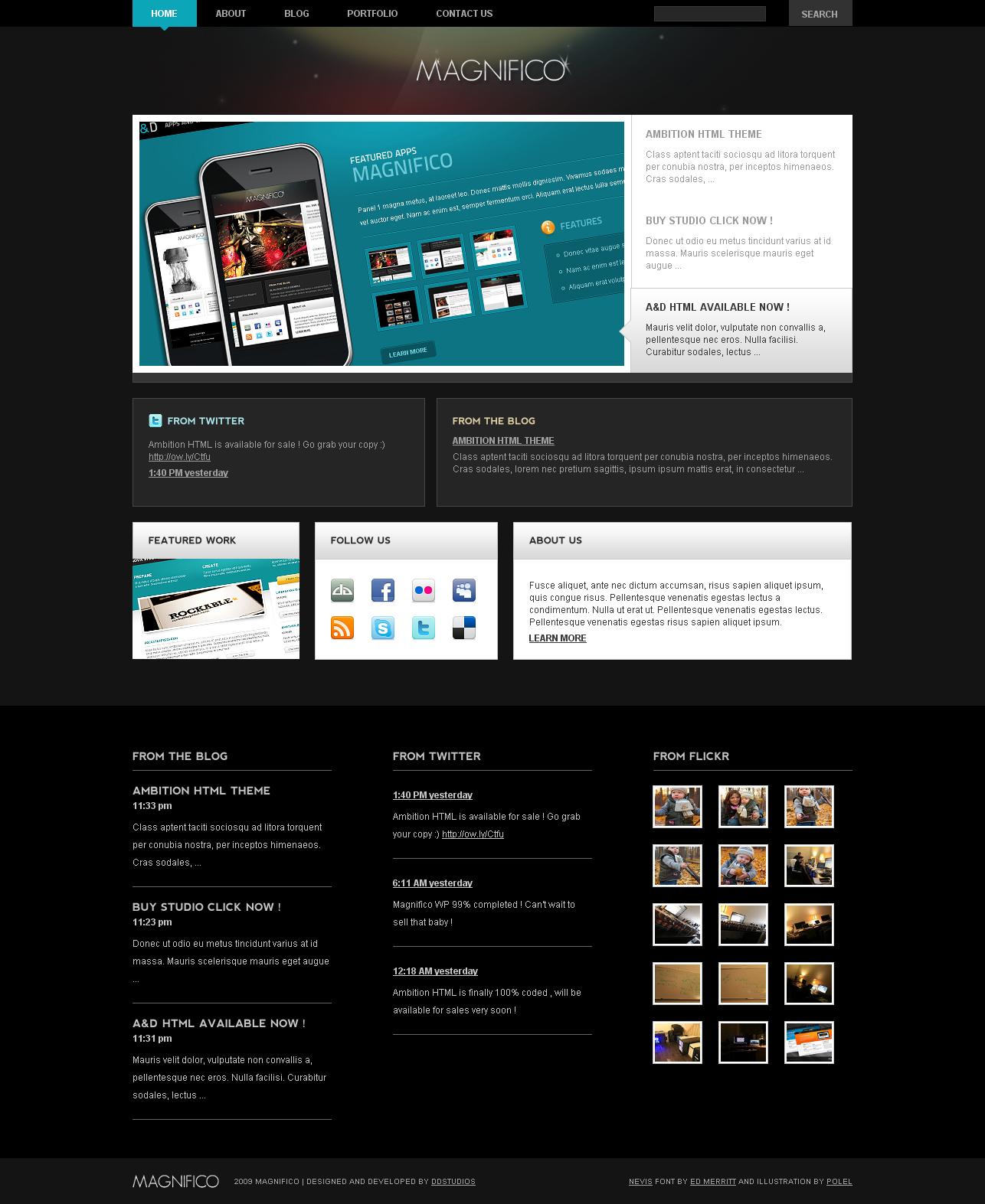 Magnifico Wordpress Theme by bestofthemeforest