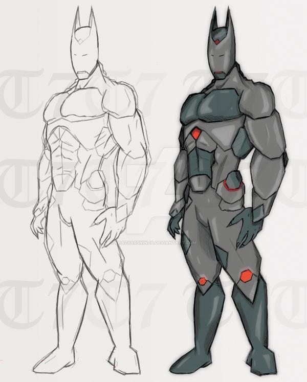 batman ironman hybrid suit by krazyassninja