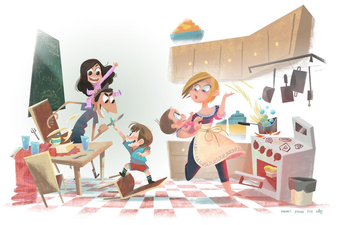 Mama\'s Kitchen by AnthonyHolden on DeviantArt