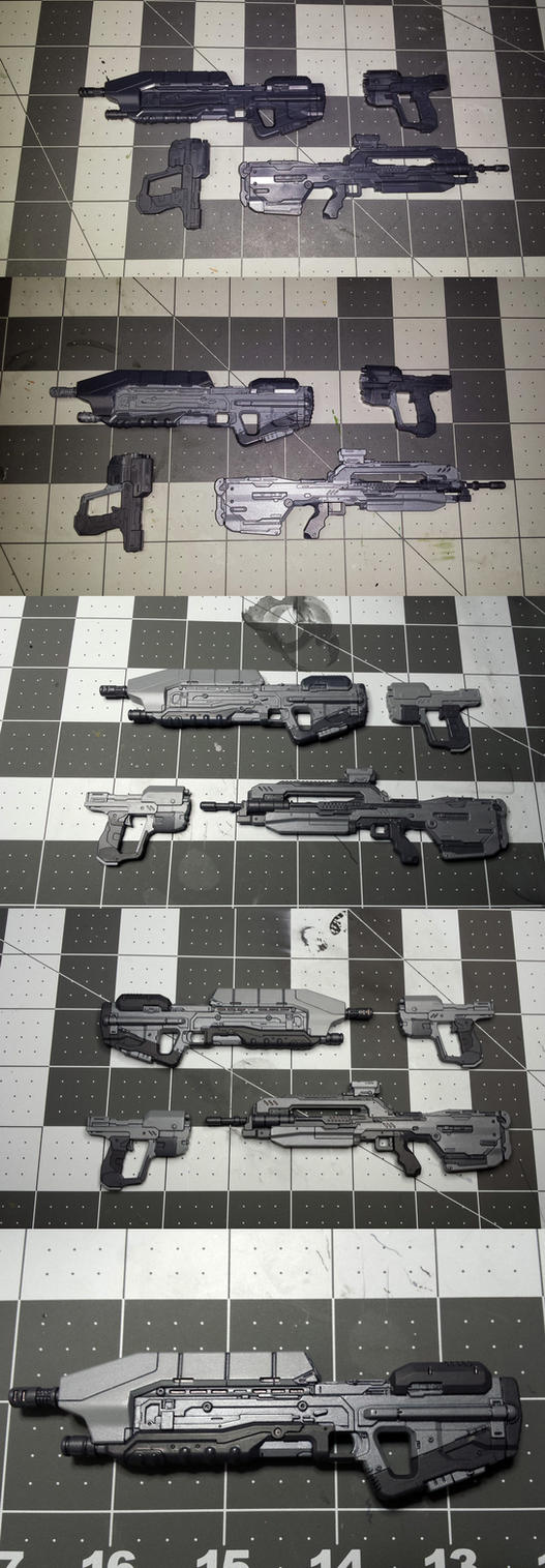 Painting Master Chief's Arsenal -Sprukits Level 3- by GeneralMechanics