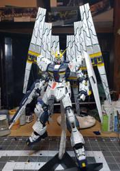 Nu Gundam Double Fin Funnel Custom Version BTF-KA