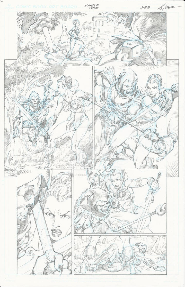 Teela Pencil Page by fcoesquivel