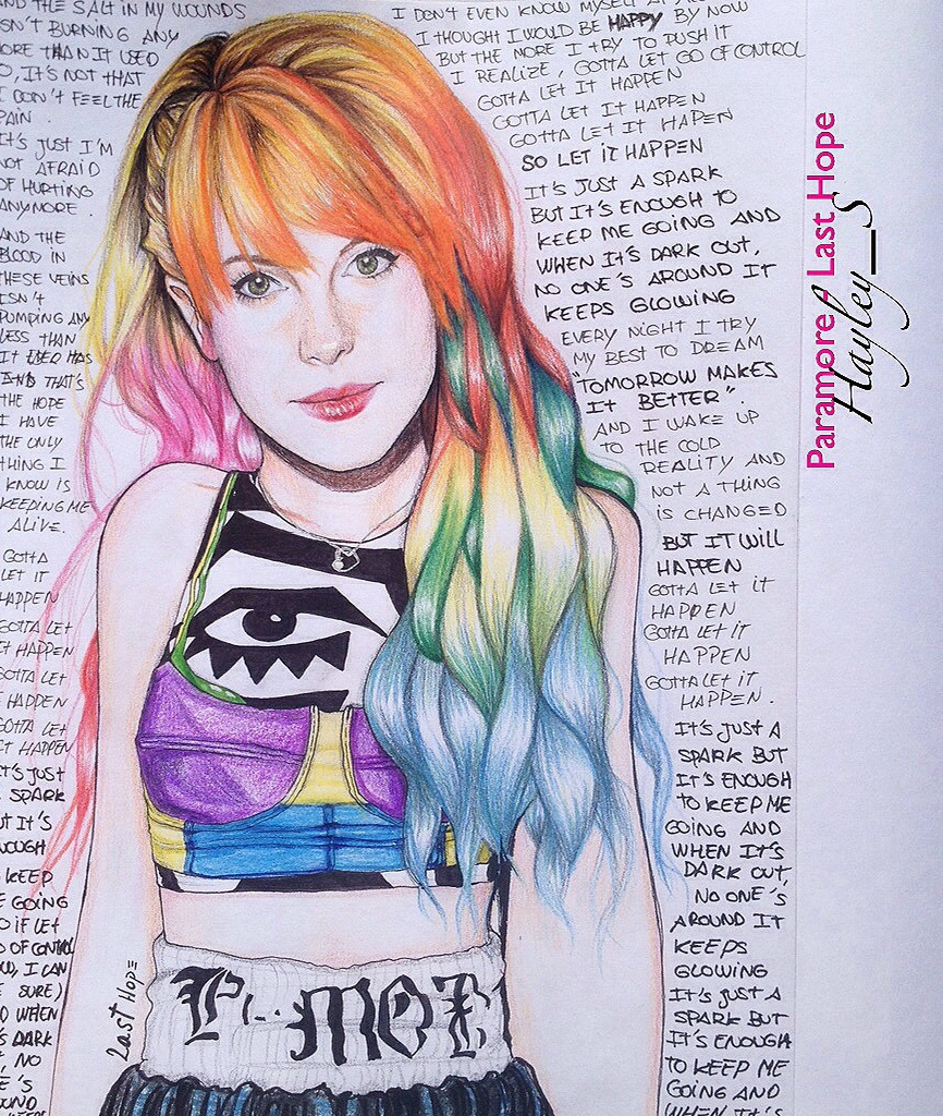 Paramore hayley williams last hope by Samdrak on DeviantArt
